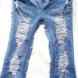 Blue Asphalt Distressed Jeans Size 9 Long